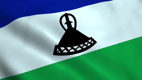 Realistic Lesotho flag Animation