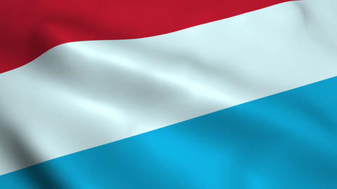 Realistic Luxembourg flag Animation