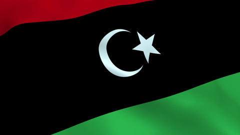 Realistic Libya flag Animation