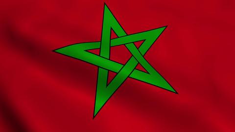 Realistic Moroccan flag Animation