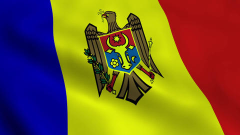 Realistic Moldova flag Animation
