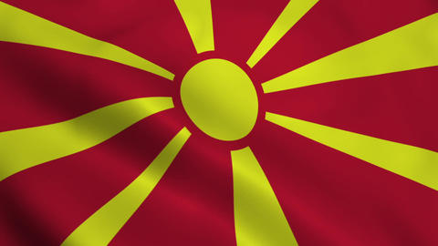 Realistic Macedonia flag Animation