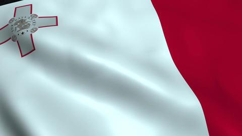 Realistic Malta flag Animation