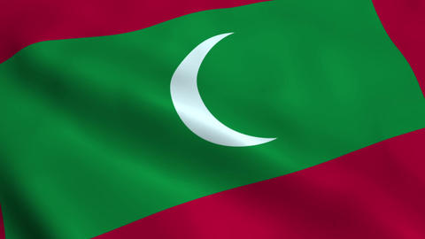 Realistic Maldives flag Animation