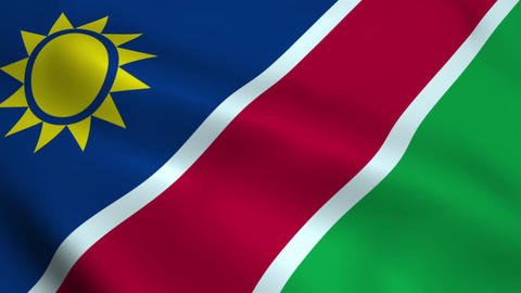 Realistic Namibia flag Animation