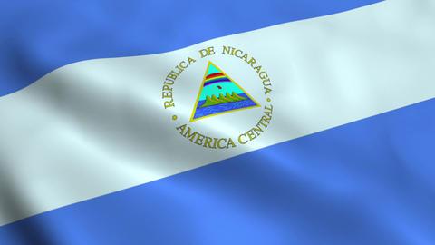 Realistic Nicaragua flag Animation