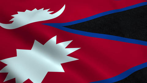 Realistic Nepal flag Animation