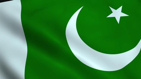 Realistic Pakistan flag Animation