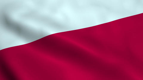 Realistic Polish flag Animation