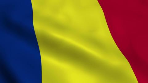Realistic Romanian flag Animation