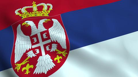 Realistic Serbian flag Animation