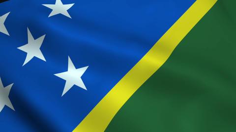 Realistic Solomon Islands flag Animation