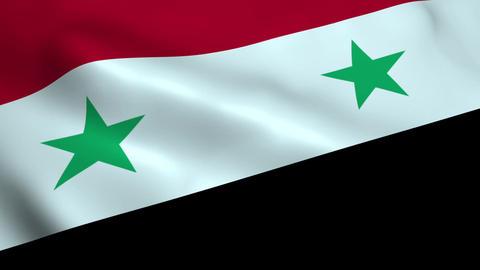 Realistic Syrian flag Animation