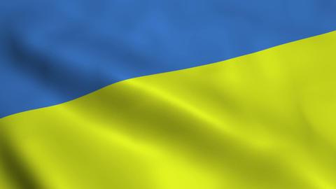 Realistic Ukraine flag Animation