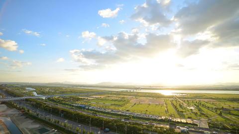 korea busan sasanggu samrack park sunrise time lapse Filmmaterial