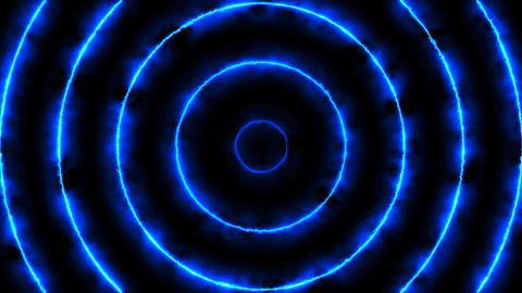 Abstract animated background with energy circles Footage