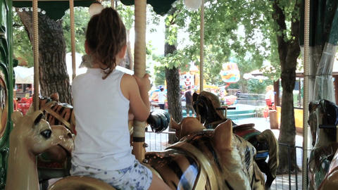 Child on merry-go-round Filmmaterial