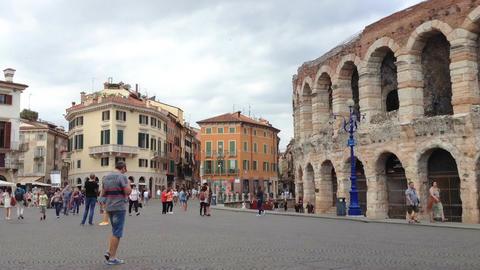 Piazza Bra in Verona Footage