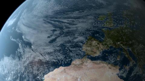 Orbiting over Europe Animation