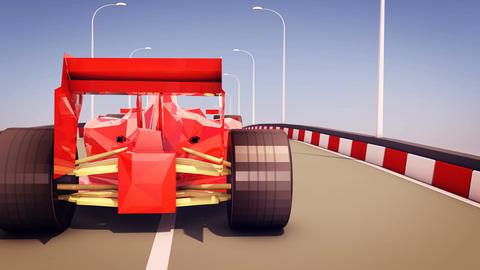 Formula One Autobahn Race Animation