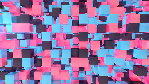 Multifaceted 3d cube background Animation
