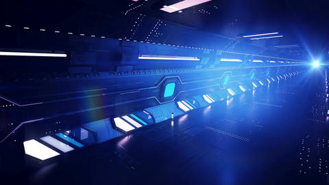 Diagonal blue tunnel ride Animation