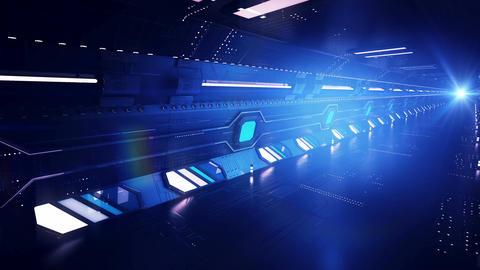 Diagonal blue tunnel ride Animation