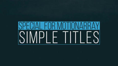 Simple Smooth Titles Premiere Pro Template