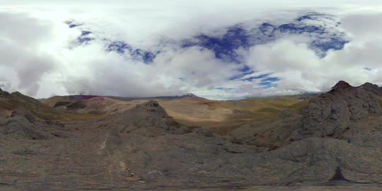 360Vr Time Lapse Of Chimborazo Volcano At Lowland In Daylight With 360 Degree Footage