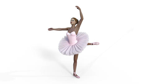 ballerina, animation,3d ,isolated Bild