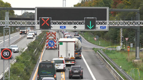 Construction site on German highway A66 Footage