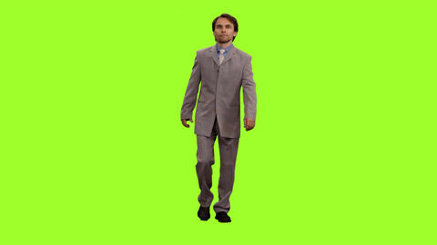People On Chroma Key Background 0