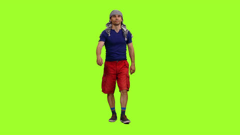 People On Chroma Key Background 1