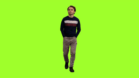 People On Chroma Key Background 2
