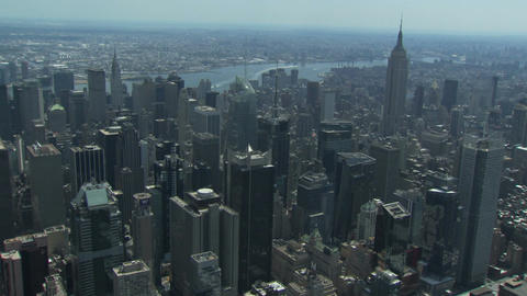 New york city buildings with empire state building Live Action