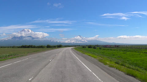 Journey to Kamchatka Peninsula. Valley of Koryaksky and Avachinsky volcanoes Filmmaterial