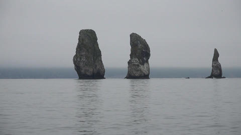 The Island's Three Brothers. Sea Safari journey along the Kamchatka Peninsula. Live Action