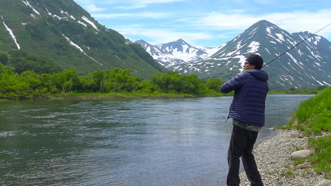 The mouth of the Larch river. Sea Safari journey along the Kamchatka Peninsula. Footage