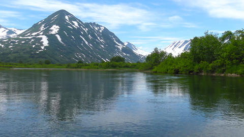 The mouth of the Larch river. Sea Safari journey along the Kamchatka Peninsula. Live Action