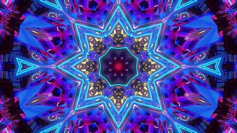 4k abstract kaleidoscope light pattern e Animation