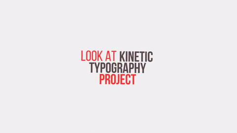 Kinetic Typography After Effects Template