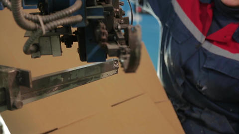 Manufacture of cardboard boxes Footage