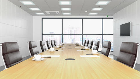 Empty conference room Footage