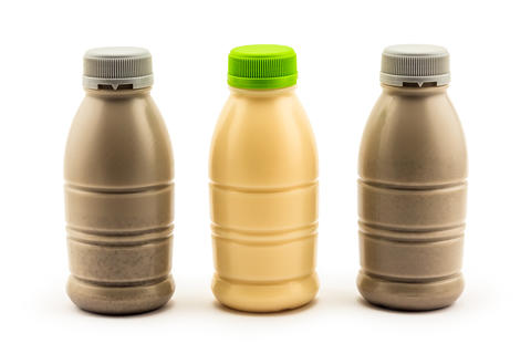 Soybean milk and soybean milk with black sesame Foto