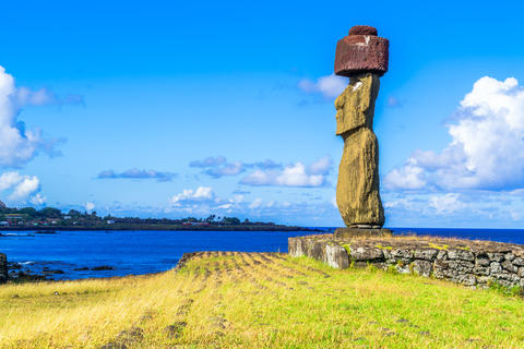 Moai at Ahu Ko Te Riku フォト