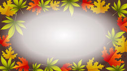 Autumn animation with rotating leafs and empty center Image