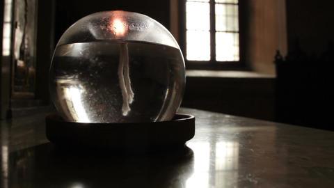 Oil lamp in a dark room Footage