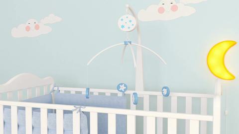 Baby room interior Filmmaterial