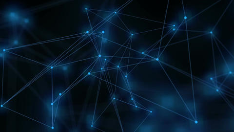 Animation of a growing network of connected lines and dots Stock Video Footage