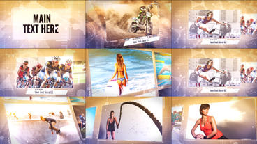Slide Show Sports And Corporate Template Plantilla de After Effects
